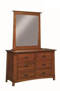 2583-1 McCoy Dresser & Mirror