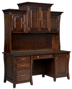Berkley Desk w/ Credenza & Hutch