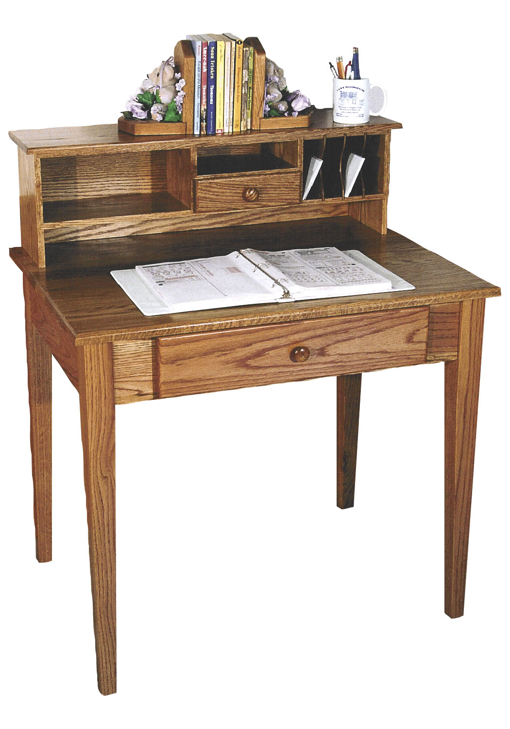 La 10 Shaker Writing Desk With Hutch