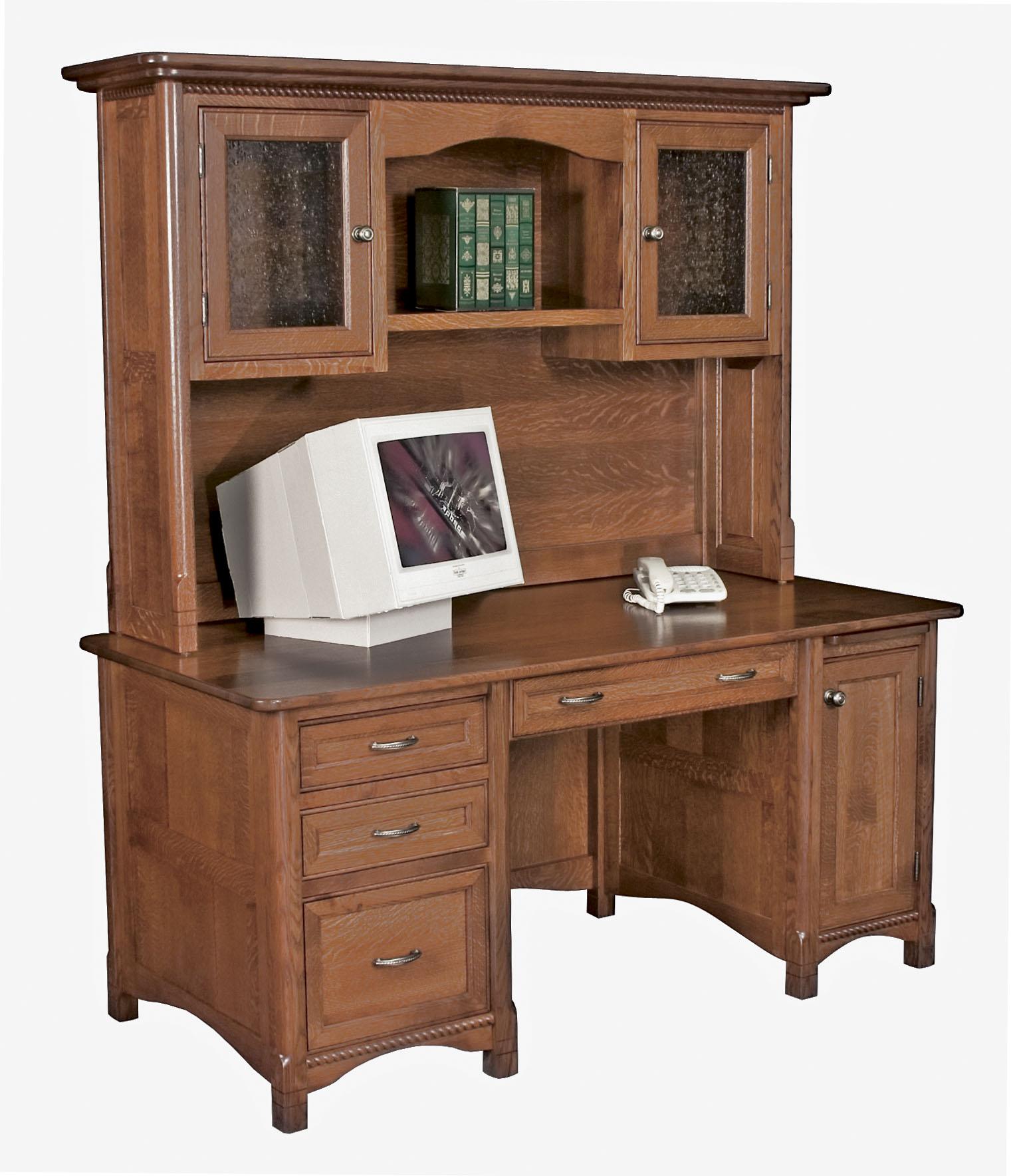 Amish Computer Secretary Desk Armoire Modesto Solid Wood: Amish Furniture Gallery In Lockport, IL