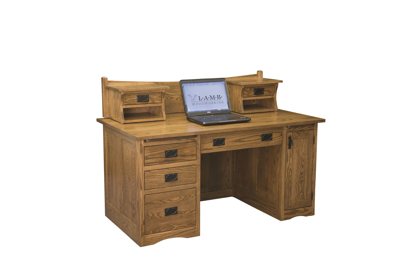 LA 001 Mission Desk With LA 218B Hutch