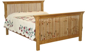 Stick Mission Bed w/ Straight Footboard