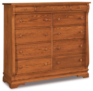 Chippewa Sleigh 11 Drawer Double Chest