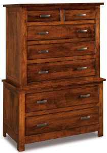 Flush Mission 7 Drawer Chest on Chest