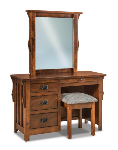 Stick Mission Vanity Dresser w/ Bench