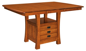 Arts & Crafts Cabinet Table with Leaf